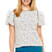 Worthington® Flutter-Sleeve Crepe Blouse - Tall
