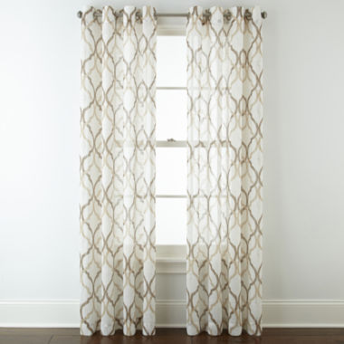 jcpenney.com | JCPenney Home™ Presidio Grommet-Top Sheer Panel