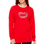 MCCC Sportswear Long-Sleeve Footprints Grandma Fleece Sweater