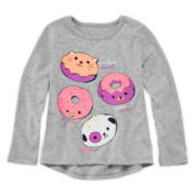 Okie Dokie® Long-Sleeve Graphic Tee - Toddler Girls 2t-5t