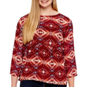 Arizona Bell-Sleeve Peasant Top - Juniors Plus