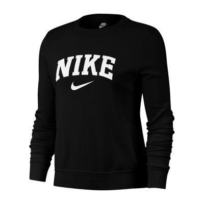 Nike Womens Crew Neck Long Sleeve Sweatshirt Jcpenney