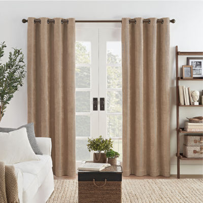 Eclipse Ambiance Draft Stopper Energy Saving 100 Blackout Grommet Top Single Curtain Panel Jcpenney