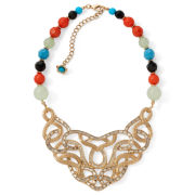 Mixit™ Gold-Tone Casted Bib Necklace