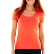 Liz Claiborne Short-Sleeve Layered Sweater