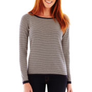 Liz Claiborne Long-Sleeve Striped Sweater