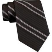 Claiborne Robinson Stripe Silk Tie