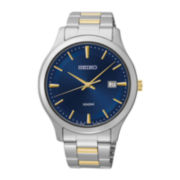 Seiko® Mens Two-Tone Stainless Steel Watch