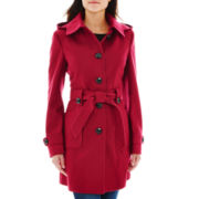 Liz Claiborne® Belted Wool-Blend Coat - Talls