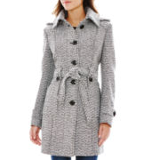 Liz Claiborne Belted Wool-Blend Coat