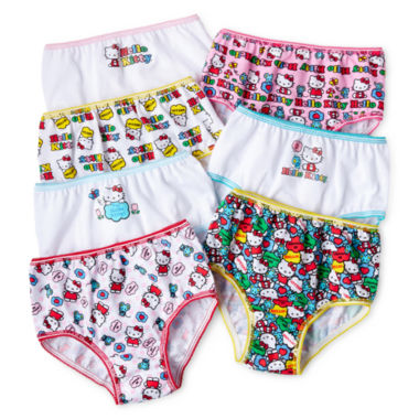 jcpenney.com | Hello Kitty® 7-pk. Brief Panties - Girls 2t-6
