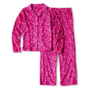 Total Girl® Cheetah Notch-Collar Sleep Set - Girls 4-16