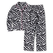 Total Girl® Zebra Notch-Collar Sleep Set - Girls 4-16