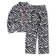 Total Girl® Zebra Fleece Sleep Set - Girls 4-16