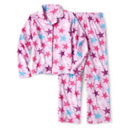 Total Girl® Lilac Notch-Collar Sleep Set - Girls 4-16