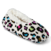 Animal Print Slipper Socks - Girls