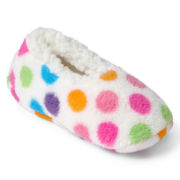 Polka Dot Slipper Socks - Girls