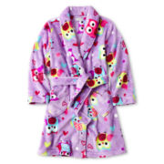 Purple Owl Plush Robe - Girls 4-16