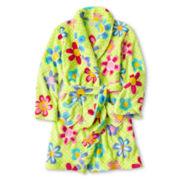 Flower Plush Robe - Girls 4-16
