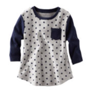 OshKosh B'gosh® Long-Sleeve Ribbed Polka Dot Top – Girls 2t-4t
