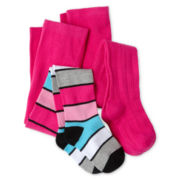 Okie Dokie® 2-pk. Sweater Tights - Girls 12m-6