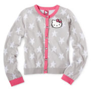 Hello Kitty® Star-Sleeve Button-Front Cardigan - Girls 6-16