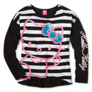 Hello Kitty® Long-Sleeve Striped Doubler Tee - Girls 6-16