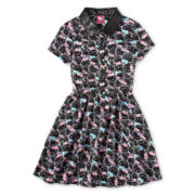 Hello Kitty® Printed Button-Front Dress - Girls 6-16