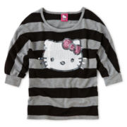 Hello Kitty® Striped Sequin Sweater - Girls 6-16