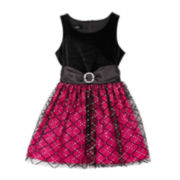 by&by Girl Black Velvet Dress - Girls 7-16 Plus