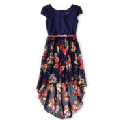 Disorderly Kids® Belted Floral Chiffon Dress - Girls 6-16