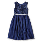 Marmellata Navy Ballerina Dress - Girls 6-16
