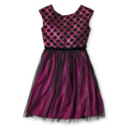 Speechless® Black Dot Dress - Girls 6-16