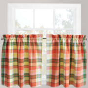 Park B. Smith Plaid Stripe Rod-Pocket Window Tiers