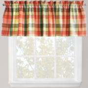 Park B. Smith Plaid Stripe Rod-Pocket Valance