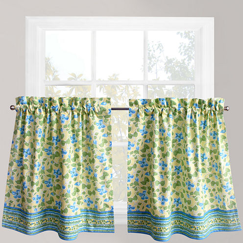 Park B. Smith® Boutique Flowers Rod-Pocket Window Tiers