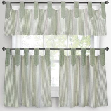 Park B Smith Ticking Stripe Kitchen Curtains