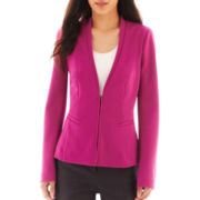 Worthington® Zip-Front Stretch-Knit Peplum Jacket