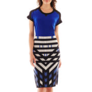 Worthington® Sheer-Shoulder Short-Sleeve Tee or Long Pencil Skirt