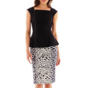 Worthington® Zippered Peplum Top or Long Pencil Skirt