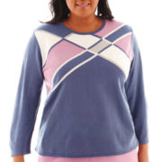 Alfred Dunner® Hillside Cottage 3/4-Sleeve Colorblock Sweater - Plus