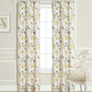 Laura Ashley® Hydrangea Rod-Pocket Curtain Panel Pair