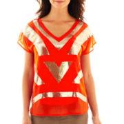 Worthington® Short-Sleeve Embellished Top