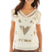 Worthington® Short-Sleeve Embellished Top
