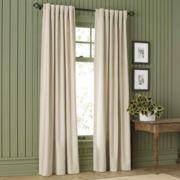 MarthaWindow™ Fairmount Basketweave Rod-Pocket/Back-Tab Cotton Curtain Panel