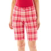 St. John's Bay Secretly Slender Bermuda Shorts