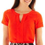 Worthington® Short-Sleeve Tunic Top - Petite