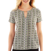 Worthington® Short-Sleeve Tunic Top