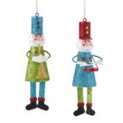 Glitter Brights Set of 2 Glitter Nutcracker Ornaments