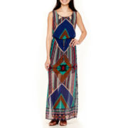 City Triangles® Print Blouson Maxi Dress